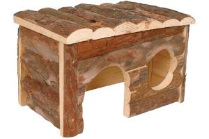 Casa para chinchillas rustica