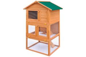 jaula de madera para chinchillas