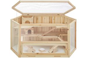 jaula madera tapa
