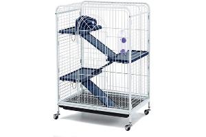 jaula con ruedas para chinchillas