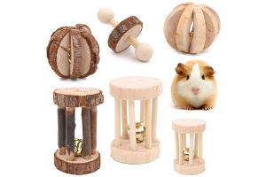juguetes de madera para chinchilla